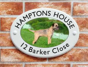 Border Terrier dog house sign