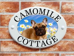 French Bulldog house sign