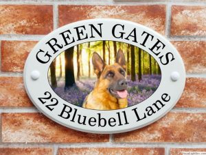 German Shepherd dog house sign