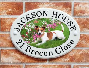 Jack Russell house plaque