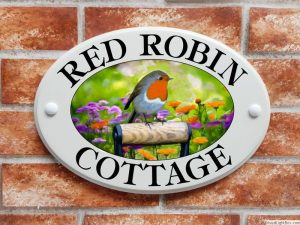 Robin house plaque