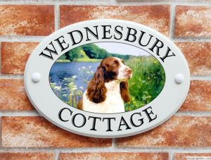 Springer Spaniel dog house sign